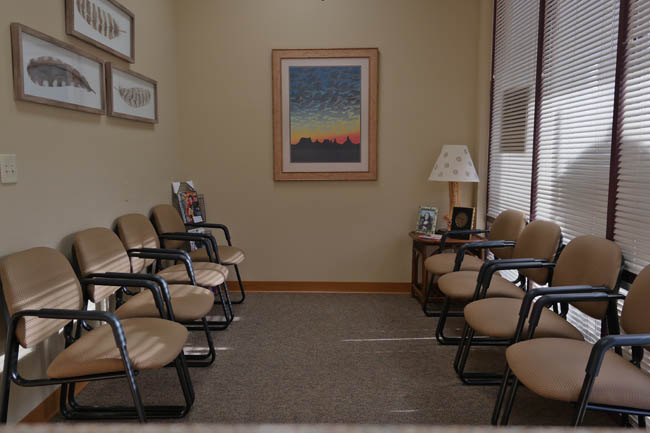 Dental Office waiting area in Sarasota