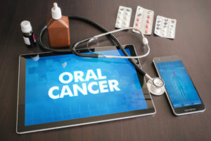 oral cancer screen on tablet